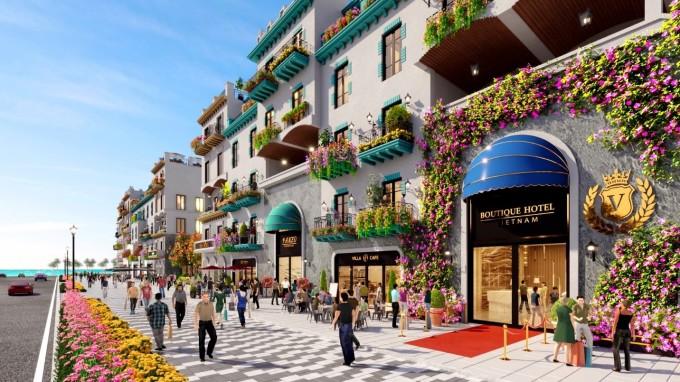 Boutique hotel khác biệt với mô hình khách sạn bình dân hay khách sạn thương hiệu có quy mô lớn, do đó thu hút được phân khúc khách hàng riêng biệt. Ảnh phối cảnh boutique hotel tại NovaWorld Phan Thiet - Bình Thuận.