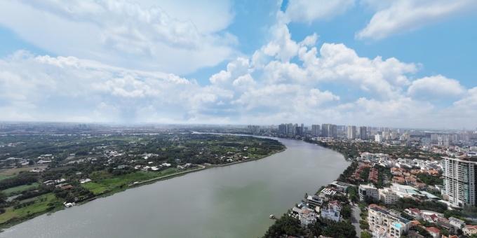 Khu nhà giàu Thảo Điền với nhiều mảng xanh, nơi đặt vị trí dự án. Cần nguồn ảnh.