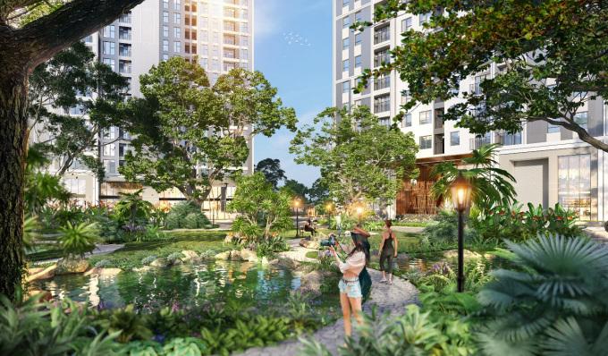Nhằm kiến tạo khu đô thị chuẩn resort, chủ đầu tư KLB dành gần 80% diện tích đất để phát triển không gian cây xanh, mặt nước và tiện ích.