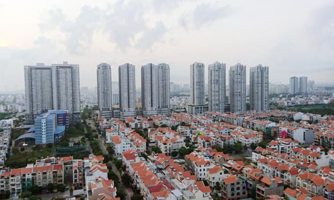 Thị trường bất động sản phía Nam TP HCM. Ảnh: Vũ Lê.