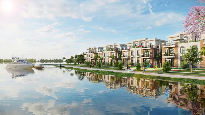 Nhà phố, biệt thự tại các đô thị sinh thái vệ tinh được lòng nhà đầu tư.