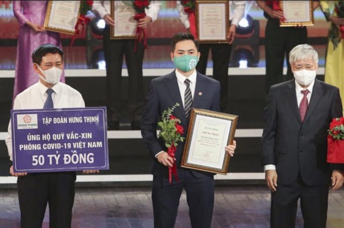Tập đoàn Hưng Thịnh đóng góp 50 tỷ đồng vào Quỹ vắc-xin phòng chống Covid-19 của Chính phủ. Ảnh: Tập đoàn Hưng Thịnh