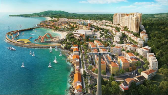 Phối cảnh tổ hợp Thị trấn Địa Trung Hải ở Nam Phú Quốc   Ảnh: Khang Vinh