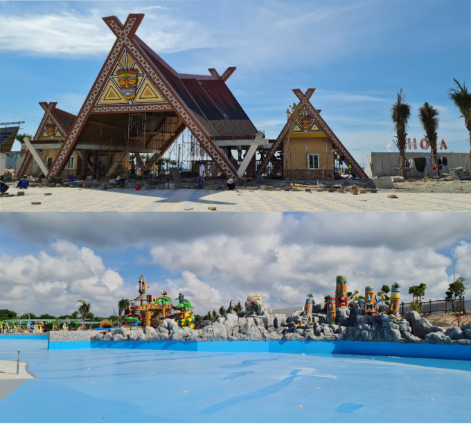 Một số hạng mục giải trí tại công viên Tropicana Park đang dần hình thành.