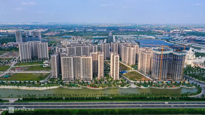 Một khu đô thị tại phía Gia Lâm, Hà Nội. Ảnh: Giang Thành Đô.