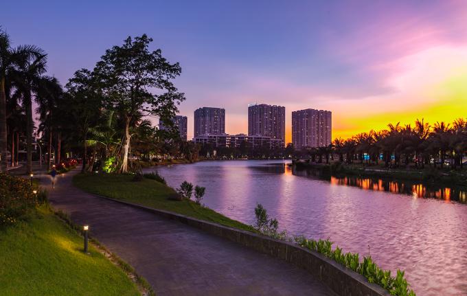 Một khu đô thị ở Văn Giang - Hưng Yên. Ảnh: ECP.