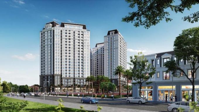 Phối cảnh tổng thể dự án Dragon Castle Hạ Long đang được N.H.O mở bán tại Quảng Ninh. Ảnh: N.H.O