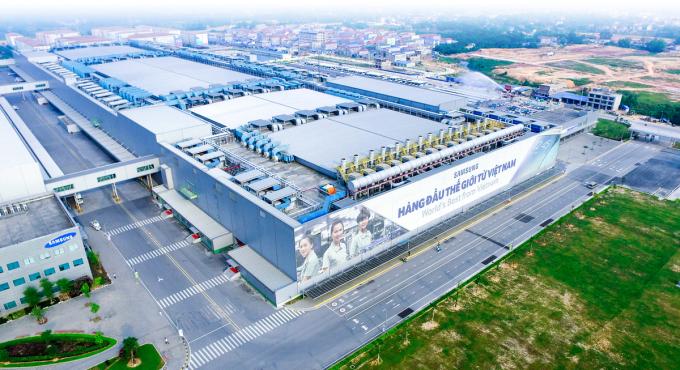 Nhà máy Samsung Electronics Vietnam tại Bắc Ninh nhìn từ trên cao. Ảnh: Samsung