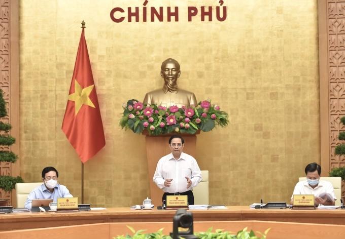 Thủ tướng Phạm Minh Chính chủ trì họp Chính phủ thường kỳ tháng 8, ngày 6/9. Ảnh: VGP