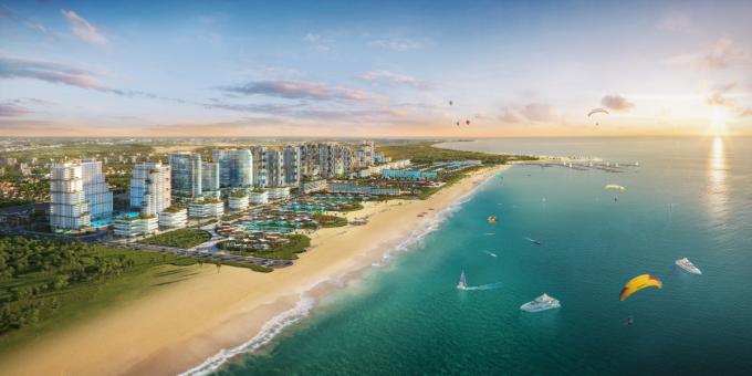 Thanh Long Bay sở hữu vị trí đắc địa và không gian sống nghỉ dưỡng. Ảnh: Thanh Long Bay