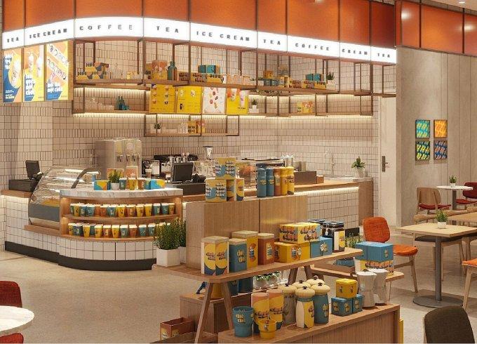 Mô hình cửa hàng Chuk Chuk của Kido. Ảnh: Ngọc Anh