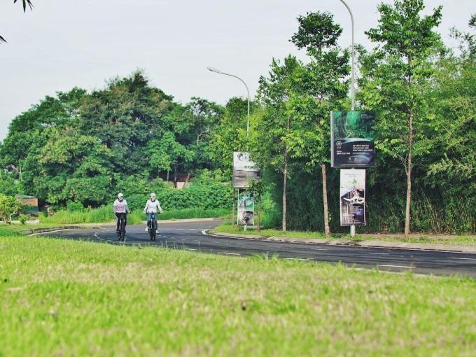 Góc xanh sinh thái trên một cung được nội khu thuộc Thành phố Cà phê