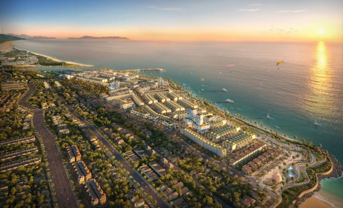 Ảnh phối cảnh dự án Lagi New City - tâm điểm của thành phố mới La Gi.