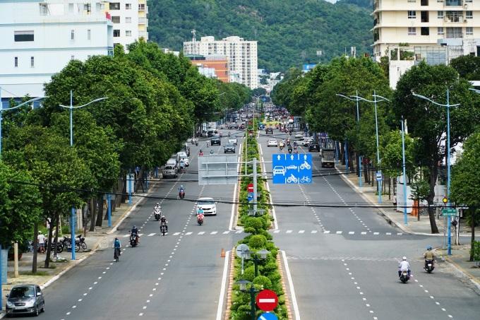Một góc thành phố Vũng Tàu ngày nới lỏng giãn cách xã hội. Ảnh: Đăng Khoa
