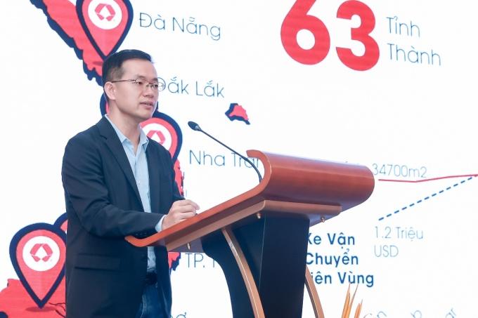 Ông Nelson Wu - Tổng Giám Đốc BEST Express Việt Nam - tại buổi gặp gỡ các đối tác nhượng quyền.