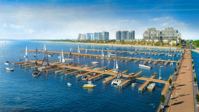 Bến du thuyền Thanh Long Bay có sức chứa lên đến 150 chỗ đậu. Ảnh: Nam Group