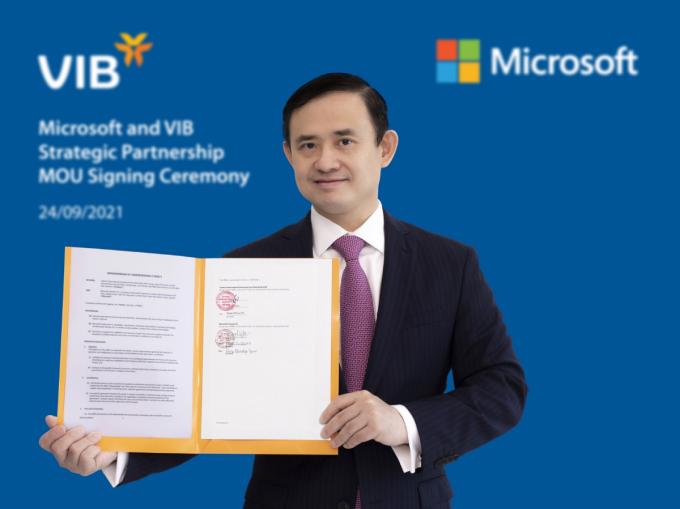VIB hợp tác cùng Microsoft Việt Nam suốt ba năm tới