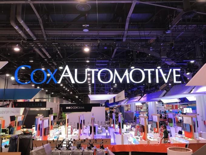 Khu trưng bày của Cox Automotive tại một triển lãm.