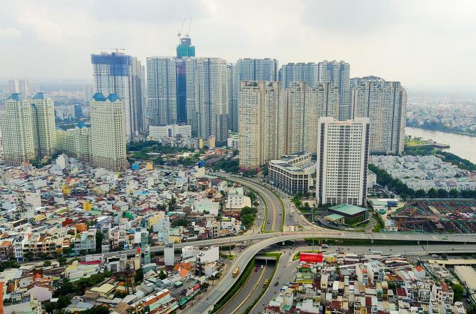 Thị trường bất động sản nhà ở quận Bình Thạnh, TP HCM. Ảnh: Quỳnh Trần