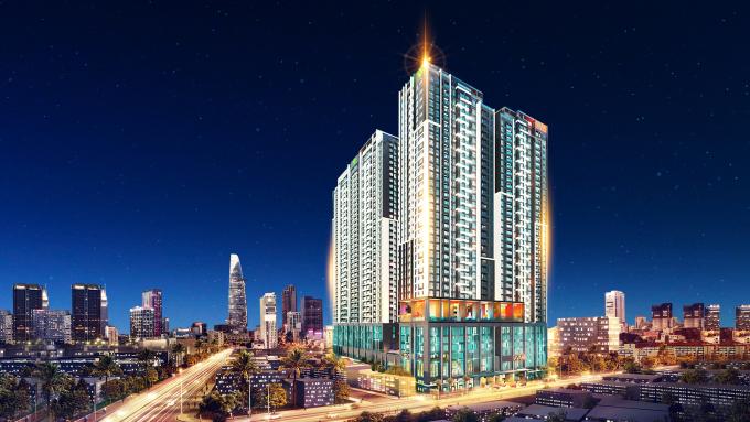 Tổ hợp căn hộ - khách sạn The Grand Manhattan đang được triển khai xây dựng tại trung tâm Quận 1 sẽ góp phần bổ sung nguồn cung căn hộ hạng sang. Ảnh: Novaland