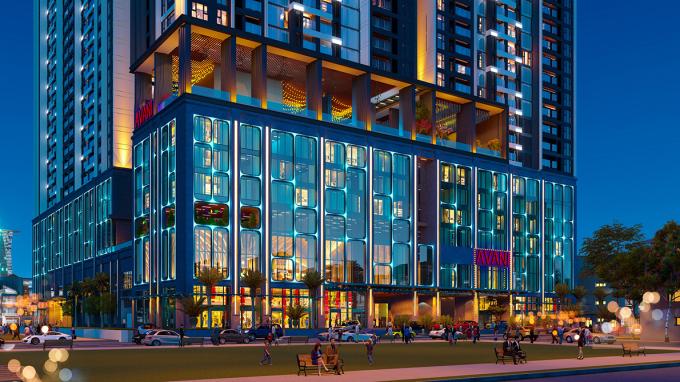 Khách sạn 5 sao Avani Saigon tọa lạc ngay khối đế dự án The Grand Manhattan. Ảnh: Novaland