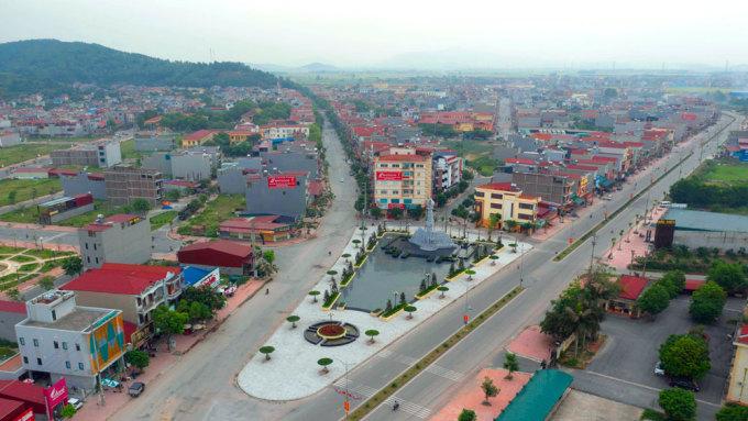 Khu vực thị trấn Nham Biền, huyện Yên Dũng. Ảnh: Thành Sơn