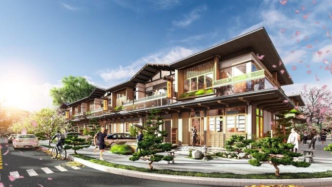 Nhà phố tại phân kỳ Binh Chau Onsen được thiết kế tối đa hóa khoảng xanh, không gian mở, sử dụng nhiều loại vật liệu tự nhiên truyền thống của người Nhật.