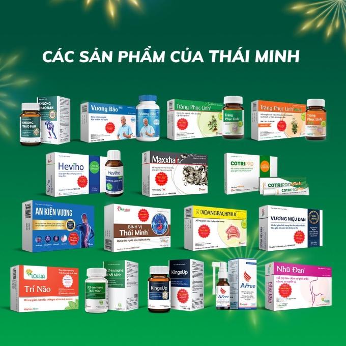 Các sản phẩm của Dược phẩm Thái Minh.