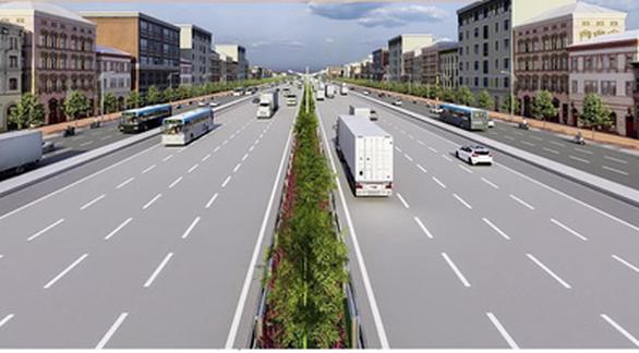 Đường vành đai 3 dài 91,66km, có quy mô 8 làn xe với tổng mức đầu tư khoảng 165.256 tỉ đồng - Ảnh: Sở Giao thông vận tải TP.HCM
