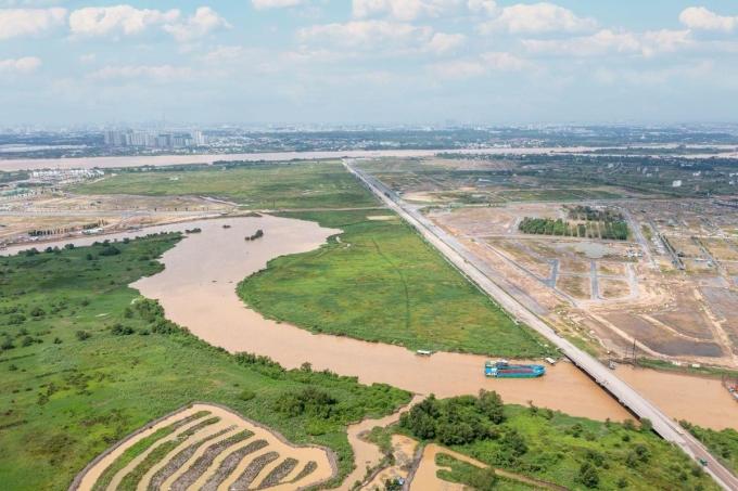 Vị trí của dự án khu đô thị tích hợp Izumi City. Ảnh: Nam Long Group