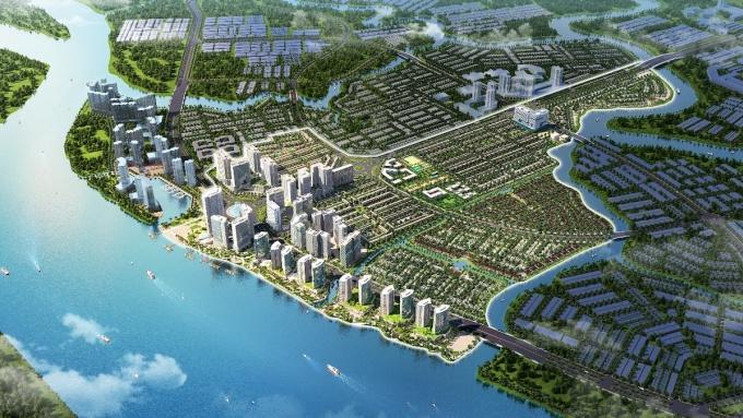 Phối cảnh tổng thể dự án khu đô thị tích hợp Izumi City. Ảnh: Nam Long Group