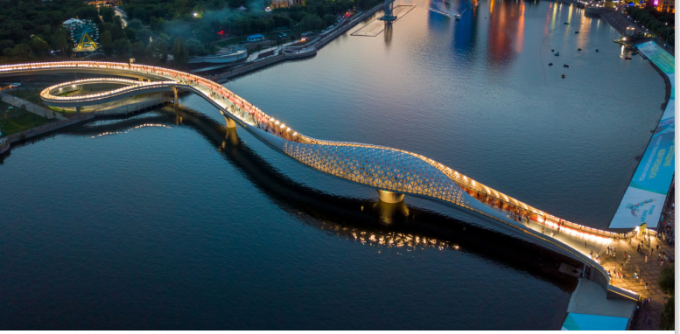 Cây cầu mô phỏng hình cánh sóng